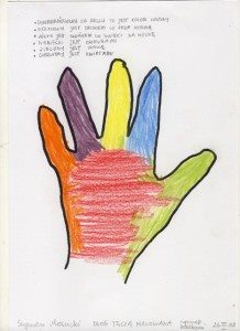 Dłoń tęczą malowana 2 26.III.08