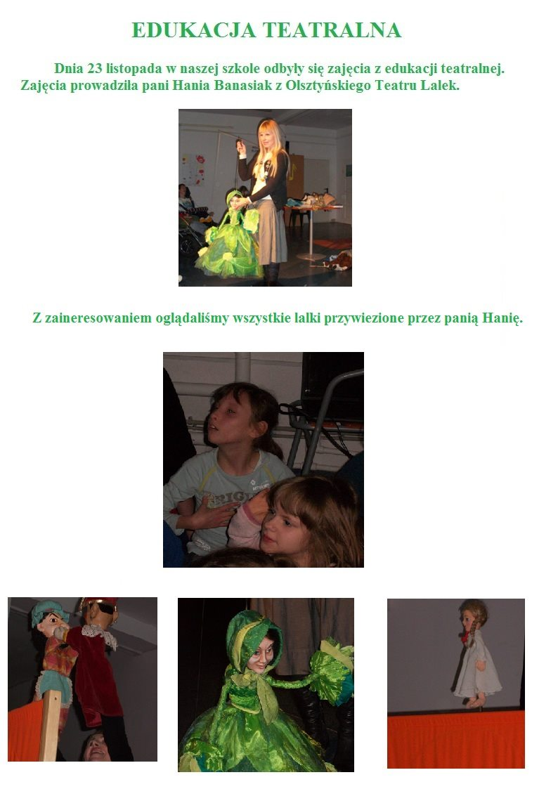 Edukacja teatralna- cz.1 listopad